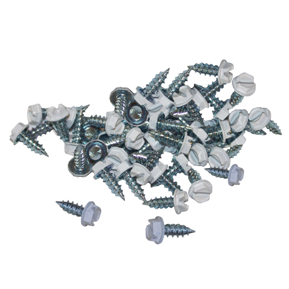 "Featured image for ""#6 x 3/8″ White Zip Screws (1,000pcs tub) – w/free 1/4″ bit"""